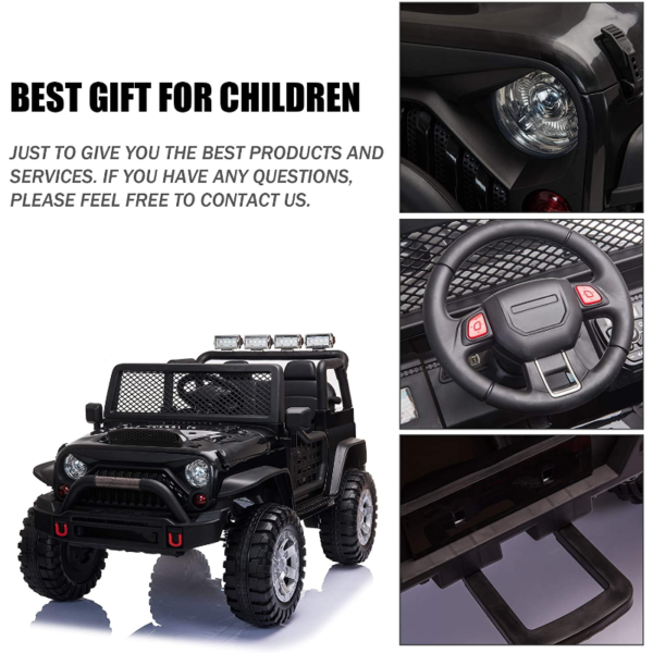 12V Electric Ride On Truck for Kids with Remote Control, Black 下载 63