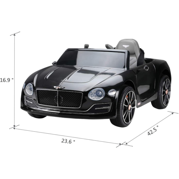 12V Bentley Licensed Electric Kids Ride On Car with Remote Control, Black 下载 72