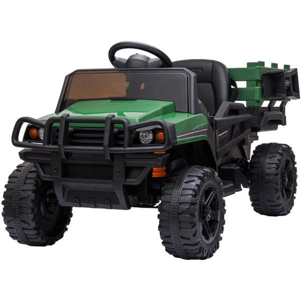 12V Battery Powered Kids Ride on Tractor with Remote Control, Army Green 下载 74