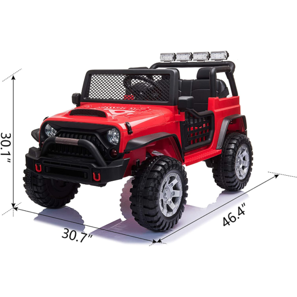 12V Extra Large Electric Ride On Truck for Kids with Remote Control, Red 下载 83