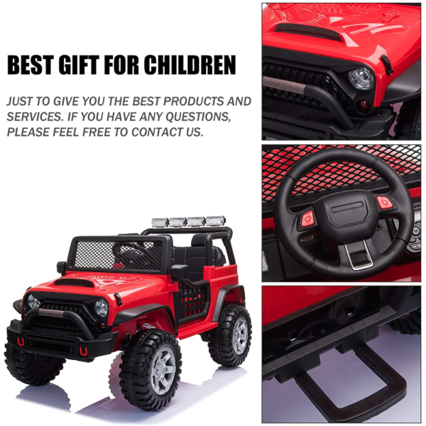 12V Extra Large Electric Ride On Truck for Kids with Remote Control, Red 下载 85