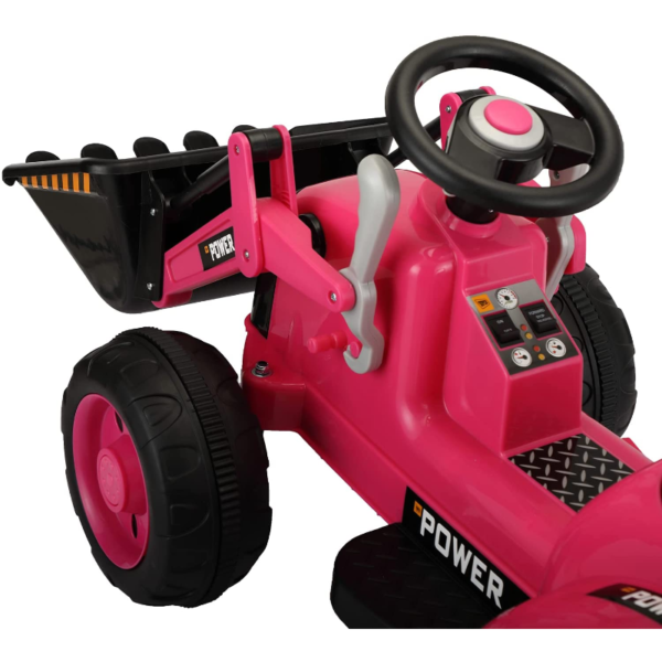 Electric Power Wheel Pedal Tractor for Kids with Working Loader, Pink 下载 88