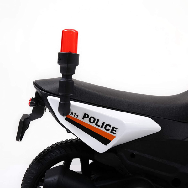 Electric Kids Ride On Police Motorcycle for 2-4 Years, White 下载 9 2