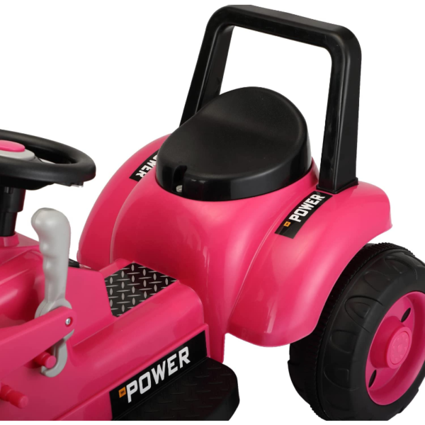 Electric Power Wheel Pedal Tractor for Kids with Working Loader, Pink 下载 93
