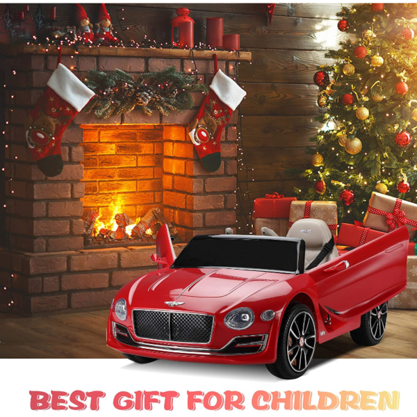 12V Bentley Licensed Electric Kids Ride On Racer Cars Toy with Remote Control, Red 下载 96