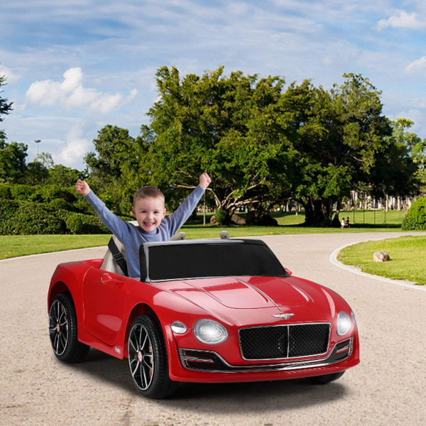 12V Bentley Licensed Electric Kids Ride On Racer Cars Toy with Remote Control, Red 下载 97