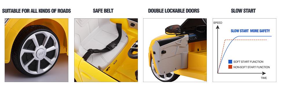 Audi TT RS Licensed Ride On Car, Yellow 01b1ad37 adc8 44c2 8b79 734fedc4b523. CR00970300 PT0 SX970 V1