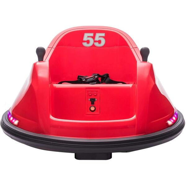 6V Electric Ride On 360 Spin Bumper Car for Kids with Remote Control, Red 1 1 2