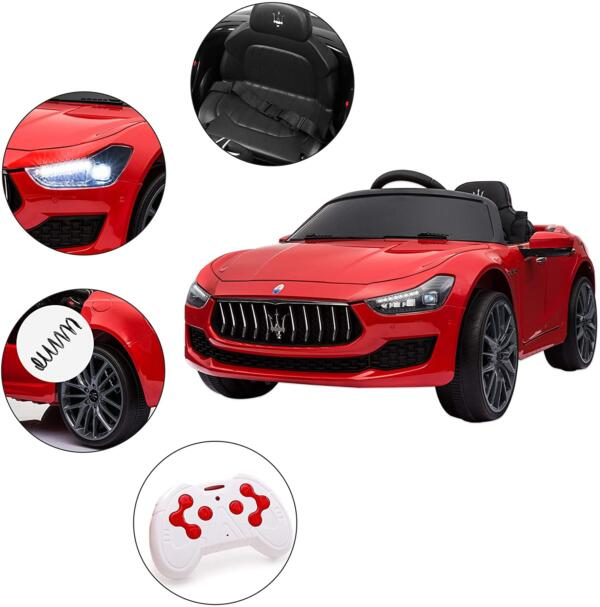 Maserati Kids Car 12V Ride On With Remote, Red 1 100