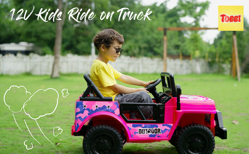 12V Kid's Ride On Truck Off-Road Vehicle W/ Double Doors 1 103