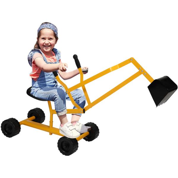 Kids Ride On Sandbox Digger Toys Little Sandbox Excavator for Boys and Girls, Yellow 1 11