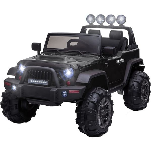 12V Battery Operated Kids Ride On Truck with Remote Control, Black 1 15