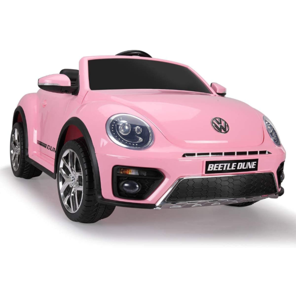 12V Licensed Volkswagen Beetle Dune Kids Electric Car with Remote Control, Pink 1 18
