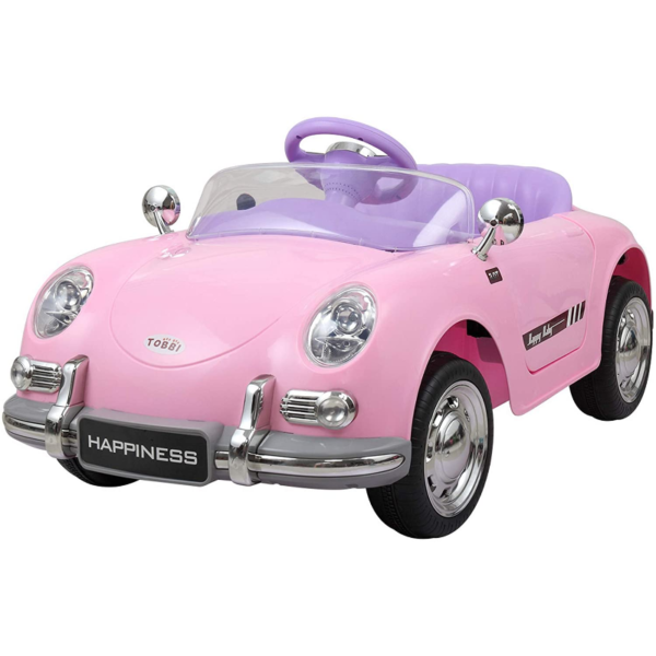 Vintage Style Battery Powered Kids Ride on Car with Remote Control, Pink 1 19