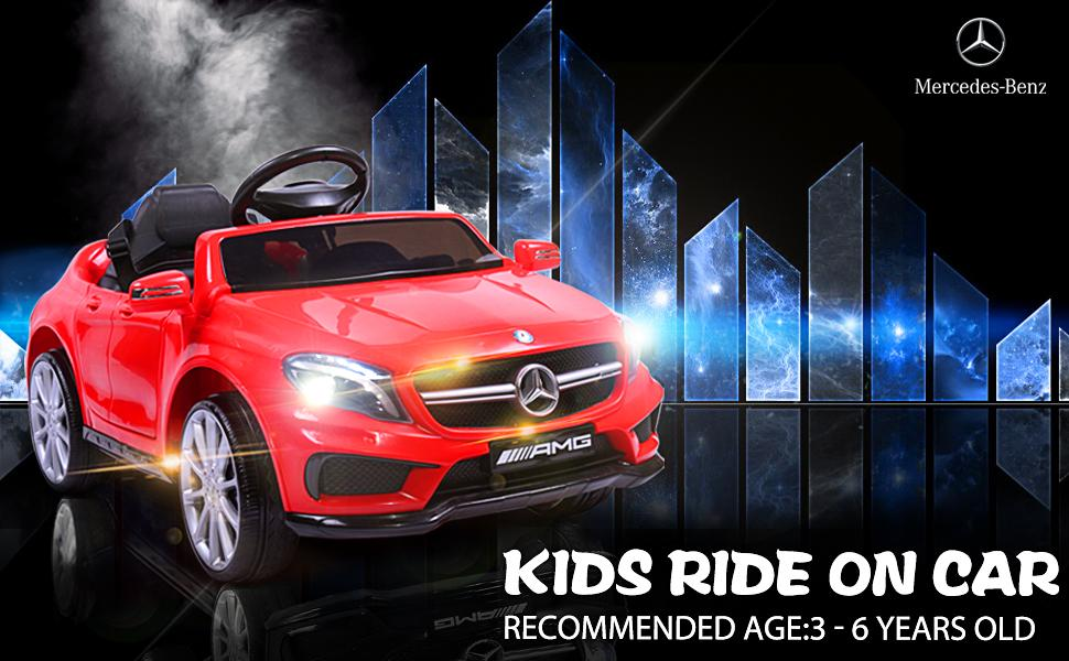 Licensed Mercedes Benz Ride on Car Toy W/RC, Red 1 21