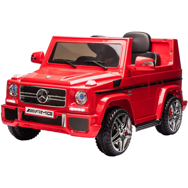 12V Licensed Mercedes Benz G65 Electric Ride on Car for Kids with Remote Control, Red 1 3