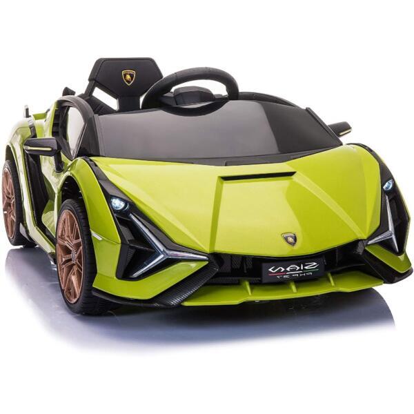12V Licensed Lamborghini Sian Children's Electric Ride On Car, Green 1 39