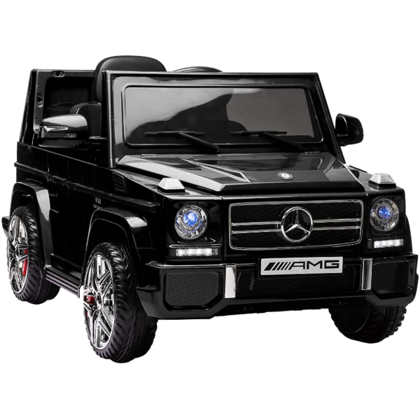12V Benz AMG G63 Electric Ride On Car for Kids with Remote Control, Black 1 4