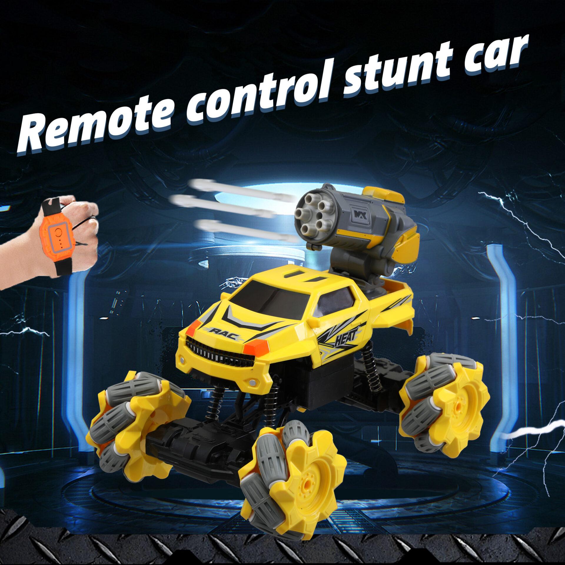 Gesture Sensing RC Stunt Car for Kids, Yellow 1 5