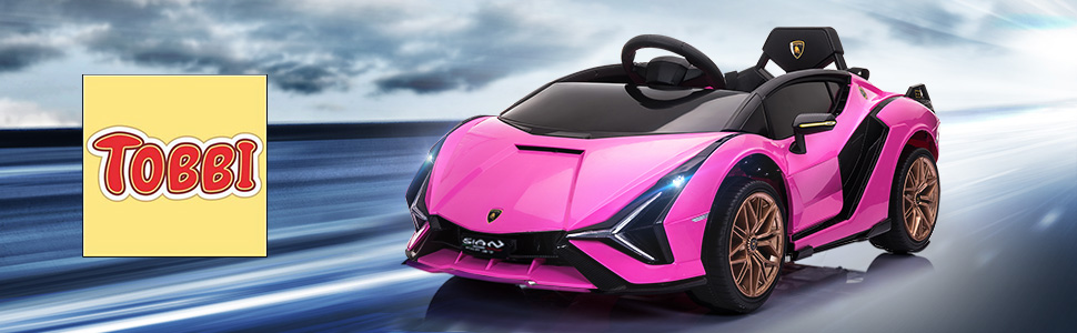 12V Kids Car Licensed Lamborghini Sian with Remote Control for Girls 1 51