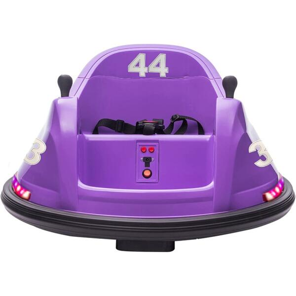 Kid's Electric Ride On 360 Spin Bumper Car with Remote Control, Purple 1 57