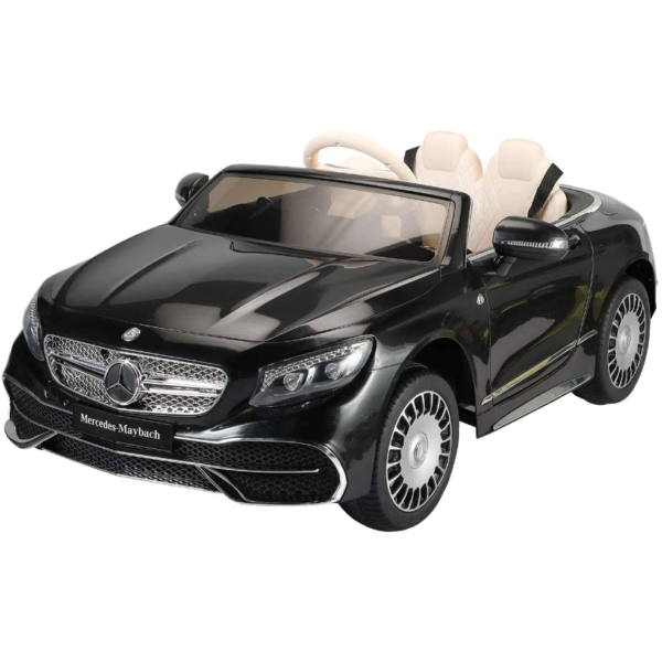 TOBBI 12V Ride on Car with Remote Control, Mercedes-Maybach S650 Electric Ride on Vehicles Cars for Kids w/ MP3 Bluetooth, Black 1 6