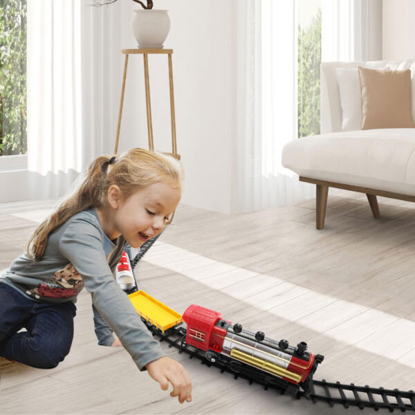 Battery-Powered Electric Train Toys with Sounds Include Cars and Tracks for Kids 1 73