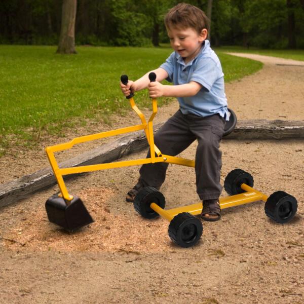 Kids Ride On Sandbox Digger Toys Little Sandbox Excavator for Boys and Girls, Yellow 1 75