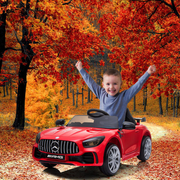 12V Mercedes-Benz GTR-AMG Kids Electric Ride On Car, Red 1 77