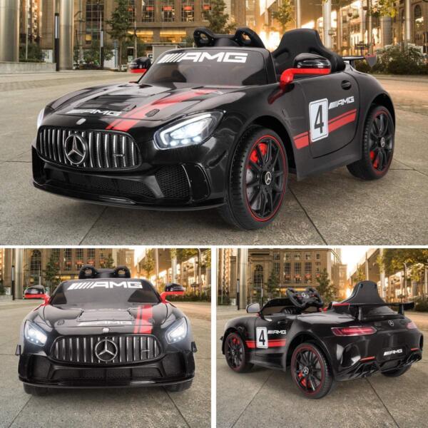 12V Electric Licensed Mercedes Benz AMG GT Kid Ride on Car, Black 1 81