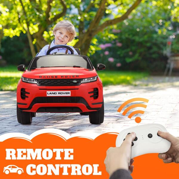 12V Land Rover Kids Power Wheels Ride On Toys With Remote, Red 1 82