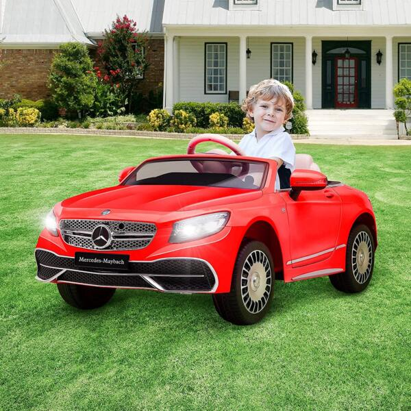 12V Mercedes-Maybach Kids Ride on Car with Remote Conrtol, Red 1 88