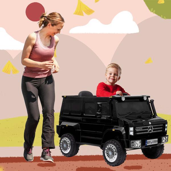 6V Mercedes Benz Unimog U500 Kids Ride on SUV Car with Remote Control, Black 1 89