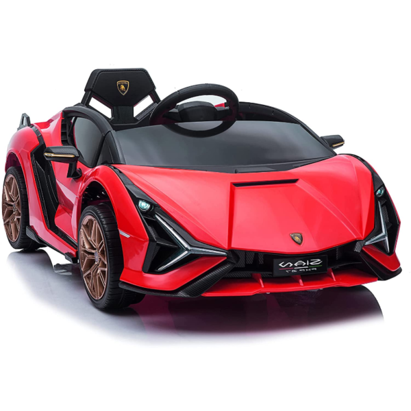 12V Lamborghini Sian Electric Kids Ride On Car with Remote Control, Red 1 9