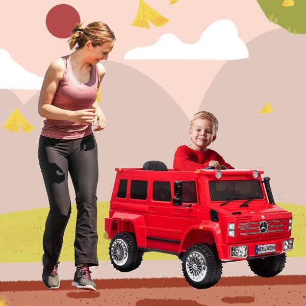 6V Mercedes Benz Unimog U500 Kids Ride on SUV Car with Remote Control, Red 1 92