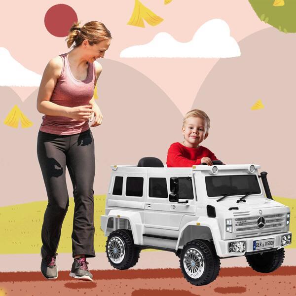 6V Mercedes Benz Unimog U500 Kids Ride on SUV Car with Remote Control, White 1 93