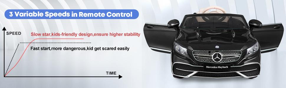 12V Mercedes Kids Ride on Car with Remote Conrtol, Black 10 5