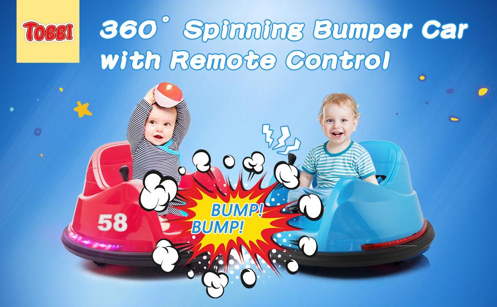 6V Electric Baby Bumper Car with Remote Control, Dark Blue 11 11