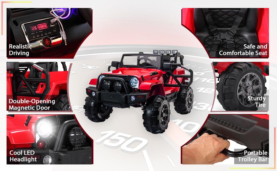 12V Kids Jeep Wrangler Electric Car W/ RC 11 25 kids jeep