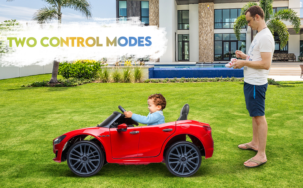 Maserati Kids Car 12V Ride On With Remote, Red 11 32
