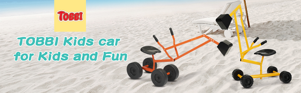 Kids Ride On Sandbox Digger Toys Little Sandbox Excavator for Boys and Girls, Orange 11 4