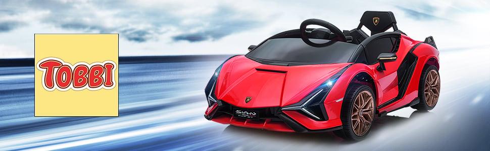 12V Lamborghini Sian Electric Kids Ride On Car with Remote Control, Red 11 5