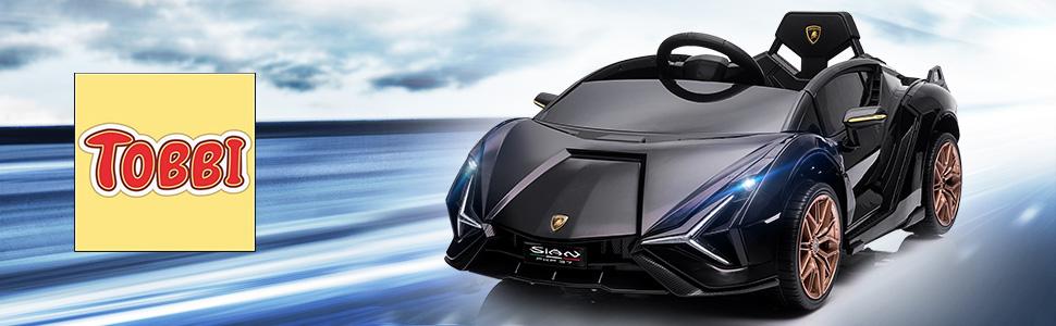 12V Lamborghini Sian Ride on Kids Electric Car with Remote Control, Black 11 7