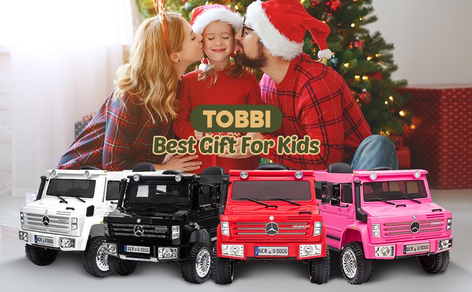 6V Mercedes Benz Unimog U500 Kids Ride on SUV Car with Remote Control, Black 12 15