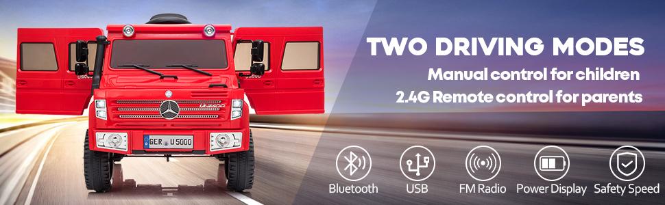 6V Mercedes Benz Unimog U500 Kids Ride on SUV Car with Remote Control, Red 12 17