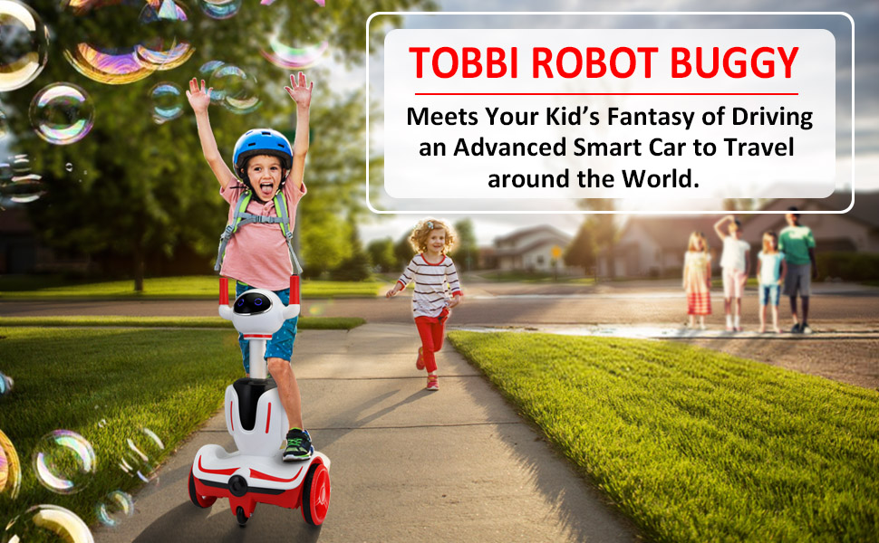 Three-in-one Robot Kids Electric Buggy With Baby Carriages, Red + White 12 2