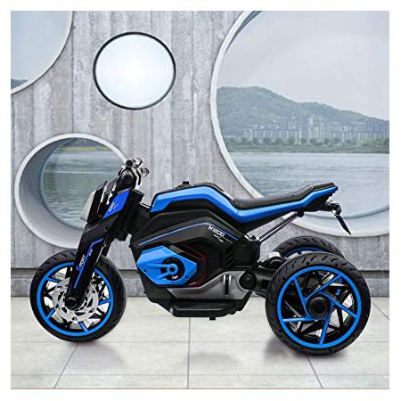 Blue battery powered kids motorcycle is also a good choice