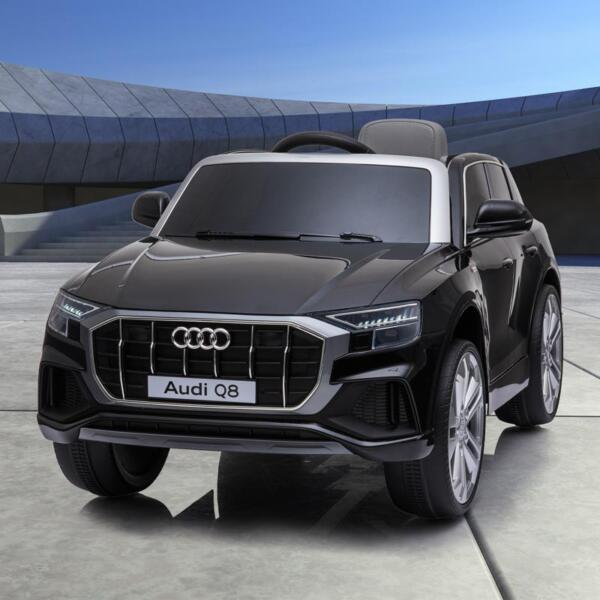 12V Audi Q8 Toy Cars For Kids Ride On Toy With Remote, Black 12v audi q8 kids ride on car black 22