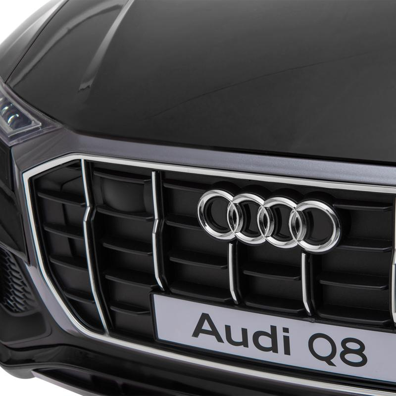 12V Audi Q8 Toy Cars For Kids Ride On Toy With Remote, Black 12v audi q8 kids ride on car black 29