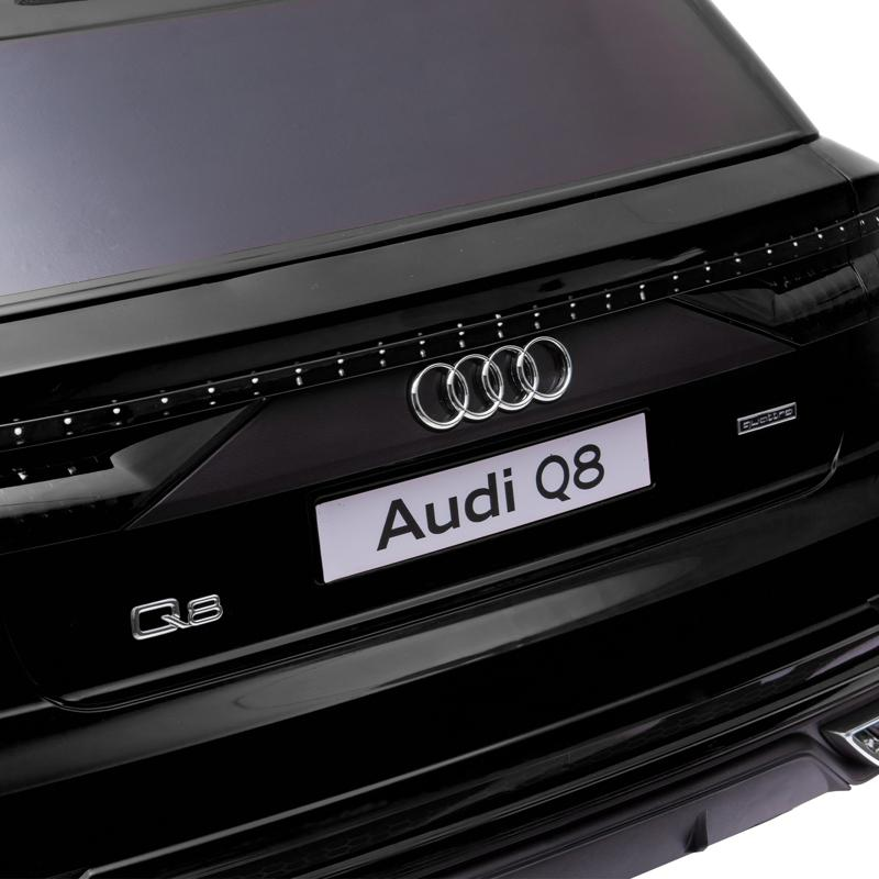 12V Audi Q8 Toy Cars For Kids Ride On Toy With Remote, Black 12v audi q8 kids ride on car black 31
